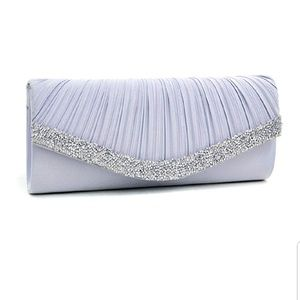 Handbag clutch silver